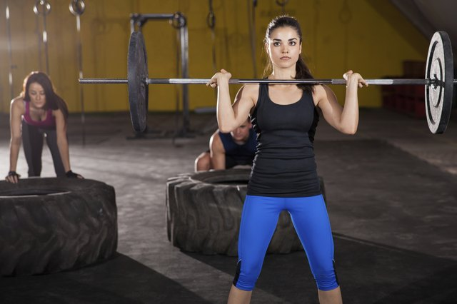 Crossfit training at a gym