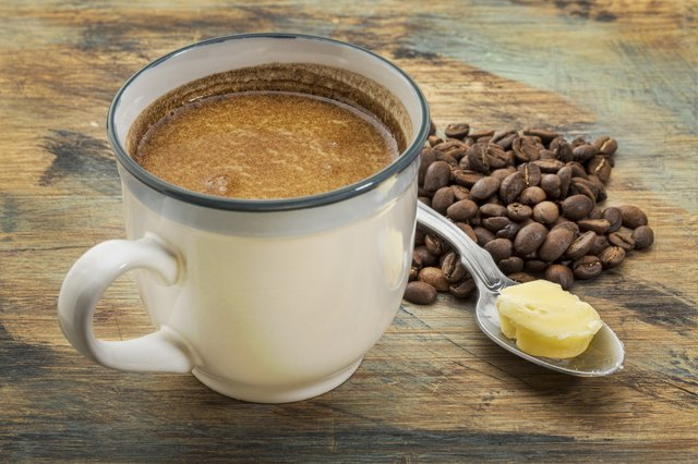 cup of fatty coffee with butter