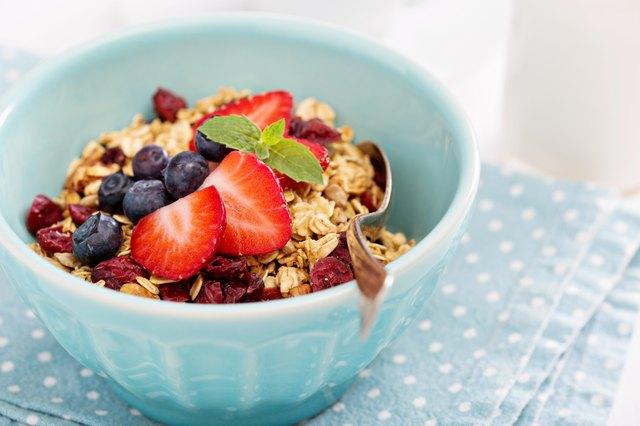 Breakfast bowl with homemade granola