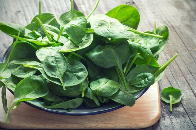 Baby Spinach for muscle building diet