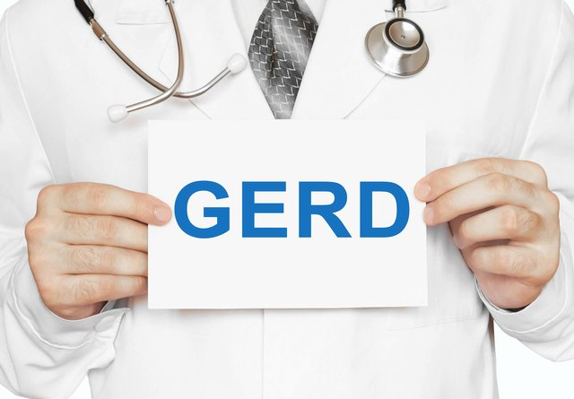 GERD card in hands of Medical Doctor