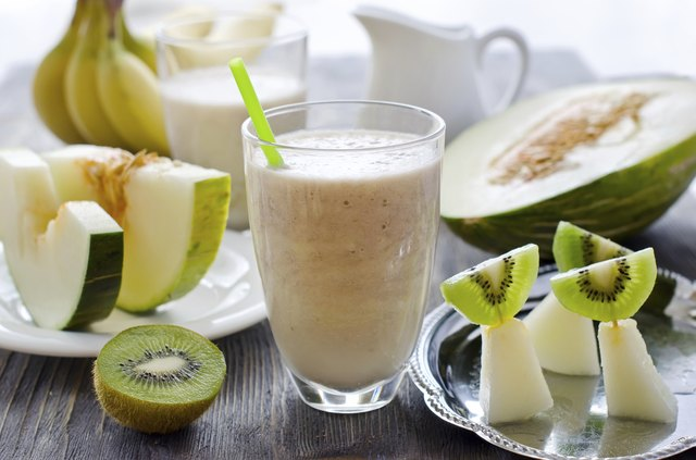 Fresh smoothie with tropic fruits
