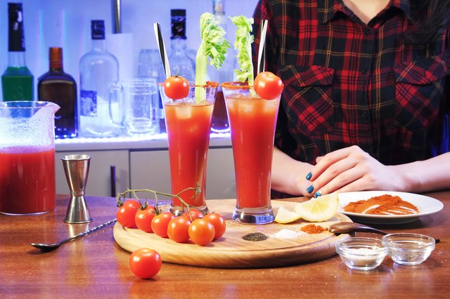 bloody Mary and barman