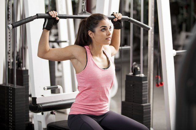 Building muscles at the gym