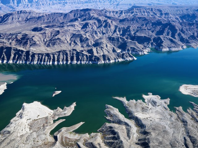Aerial view of Lake Mead.