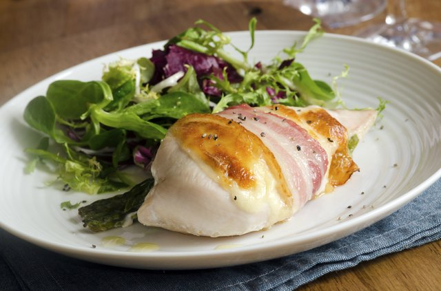 Chicken with salad