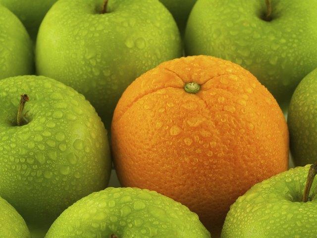 Wet Apples and Orange