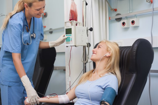 Nurse checking the pulse of a patient