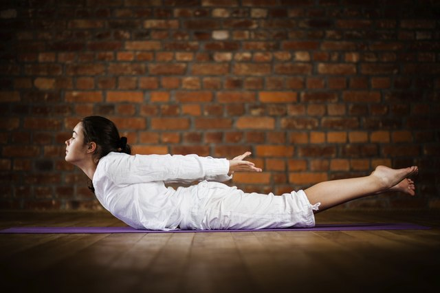 Yoga - teenage girl exercising