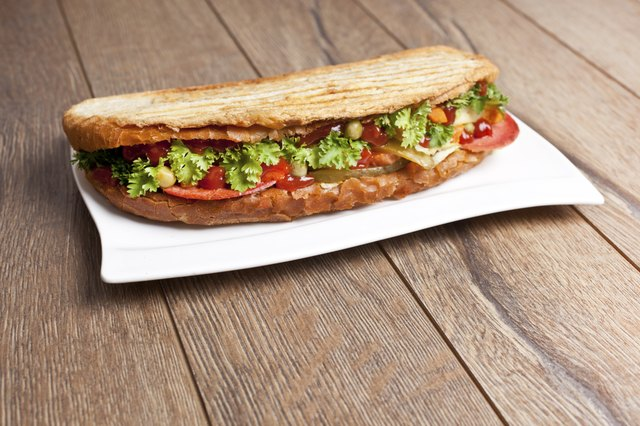 Turkish Mixed Salad Sandwich - Stock Image