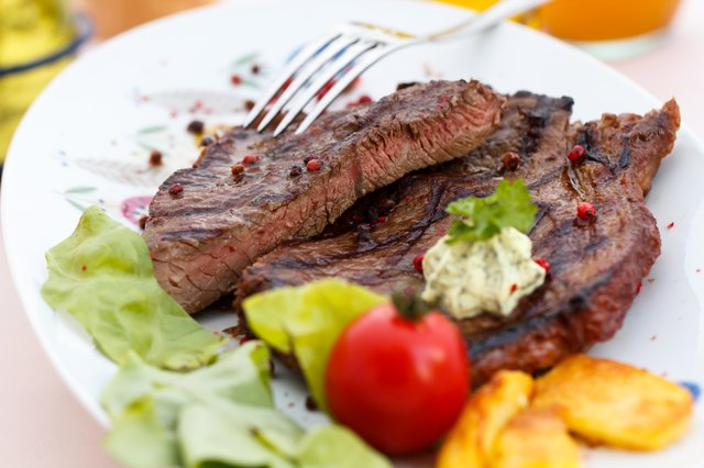 New York Strip Steak,grilled,with baked potato