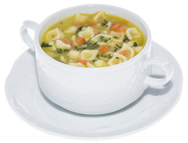 Portion of Soup isolated on white