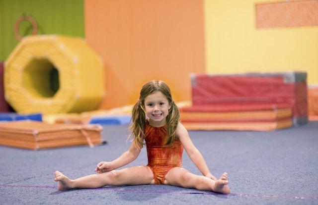 Little Gymnast Doing a Straddle Split