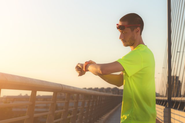 Urban Jogger Checking Running Time