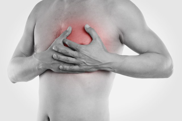 Pain in the Top Left Chest During Exercise & When Lying Down
