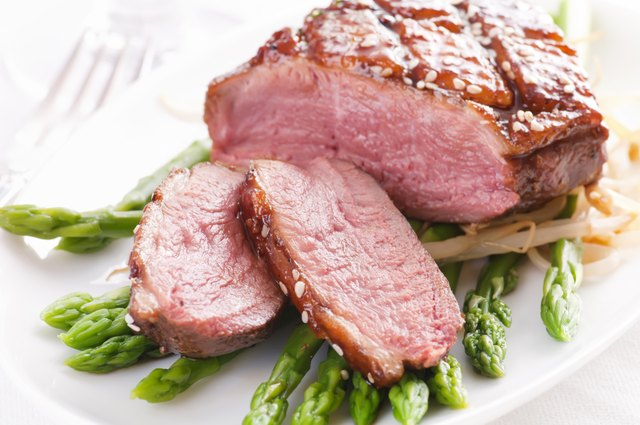 Duck Breast on Asparagus