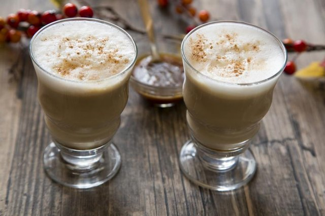 This homemade pumpkin spiced latte recipe contains 125 calories and 15 grams of sugar.