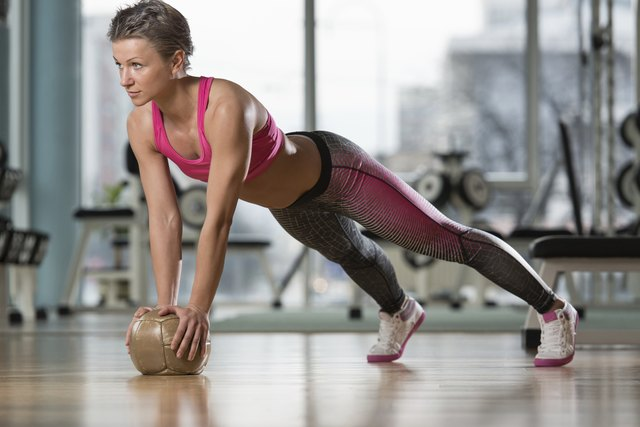 Push-Ups On Medicine Ball