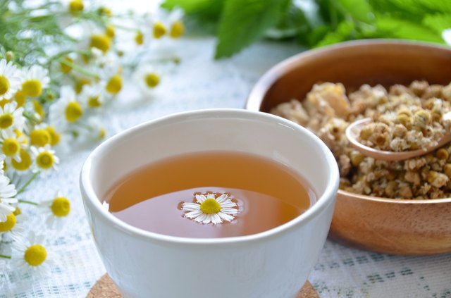 tea break with chamomile
