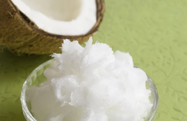 coconut oil on green horizontal
