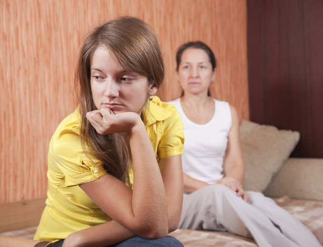 teenager daughter and mother after quarrel