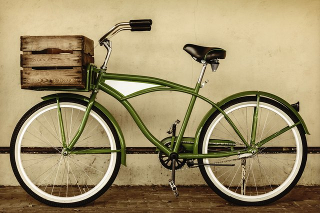 Retro styled sepia image of a vintage bicycle