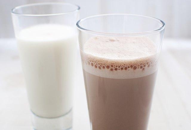 Chocolate and regular milk