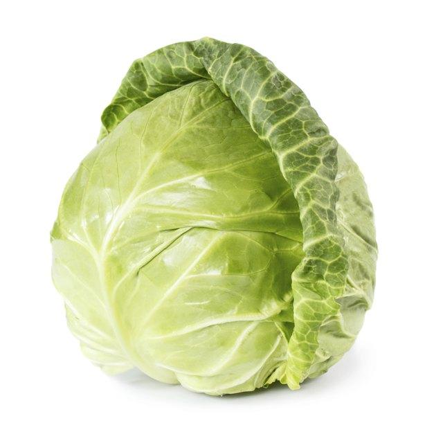 Whole fresh cabbage