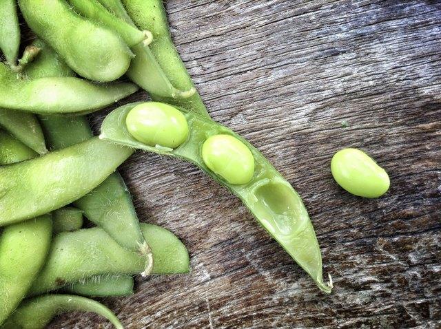 Fresh soybeans.