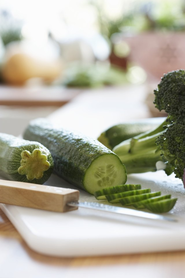 The Nutritional Values of Zucchinis & Cucumbers