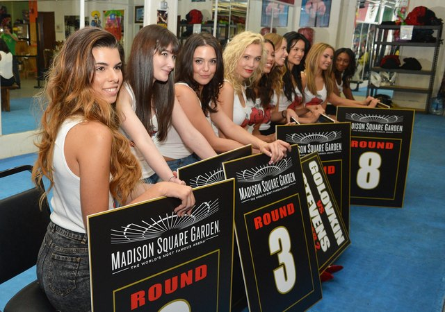 Ring Card Girl Search For The Gennady Golovkin vs Curtis Stevens Boxing Match