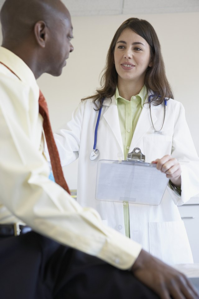 Female doctor examining a patient