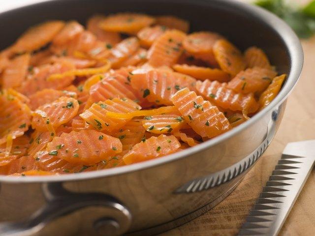 Vichy Carrots in a Saute Pan