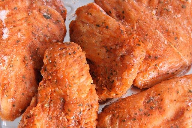marinated turkey brest fillet close-up