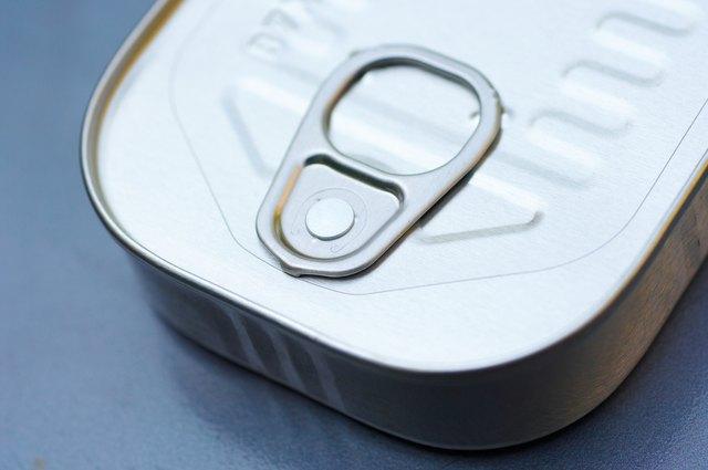 Aluminum can of sardines