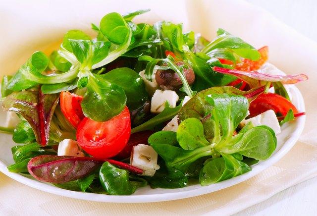 Healthy fresh Salad with feta