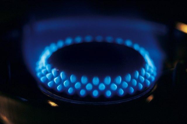 Gas burner on stove top