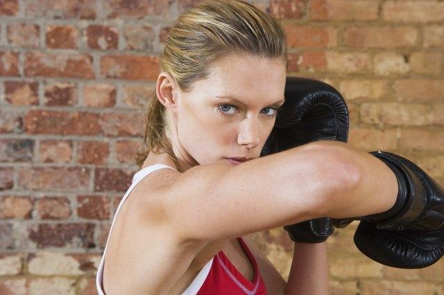 Kickboxer elbowing