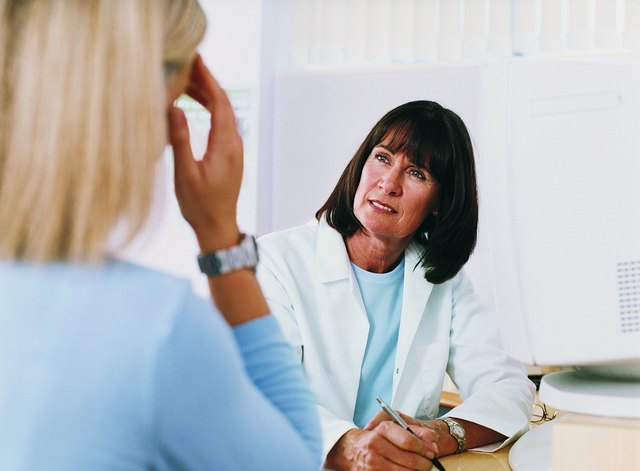 Doctor Listening to Patient Talk About Her Medical Symptoms