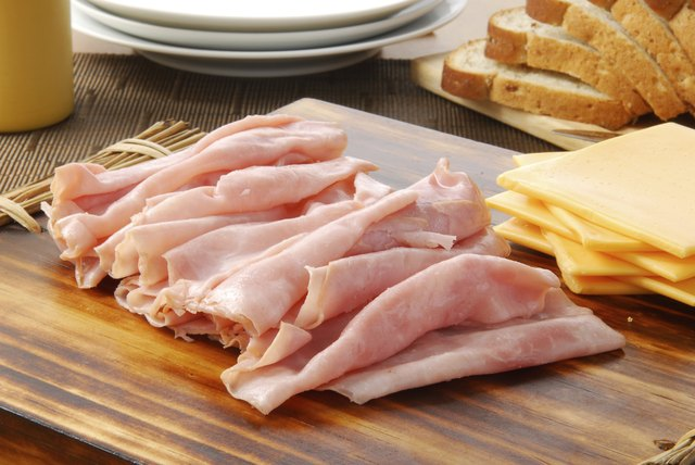 Ham and cheese sandwich fixings
