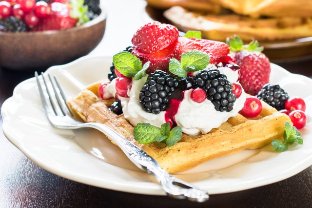 Calories in Large Belgian Waffles