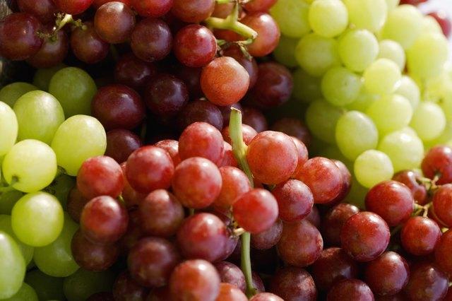Succulent ripe grapes