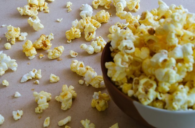 Popcorn Spread Out On The Floor.