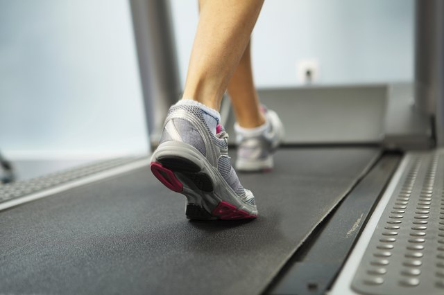 Running on treadmill