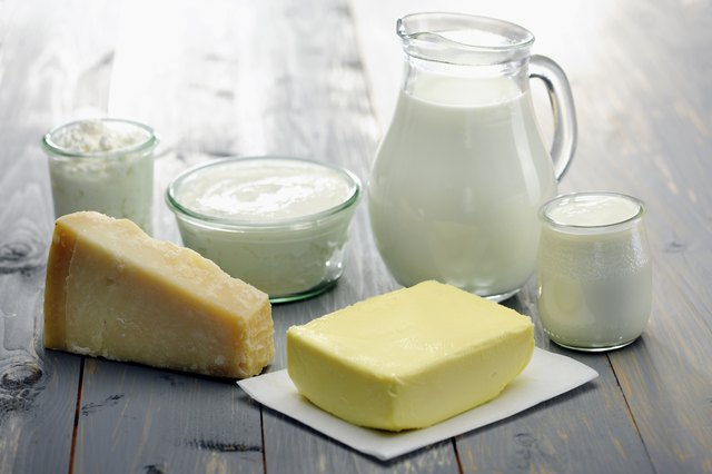 Dairy Products; milk,cheese,ricotta, yogurt and butter