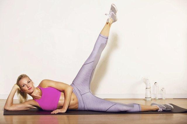 Athlete Doing Her Leg Stretching Exercise