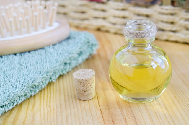 Small bottle of cosmetic oil