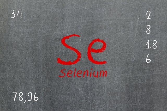 Isolated blackboard with periodic table, Selenium
