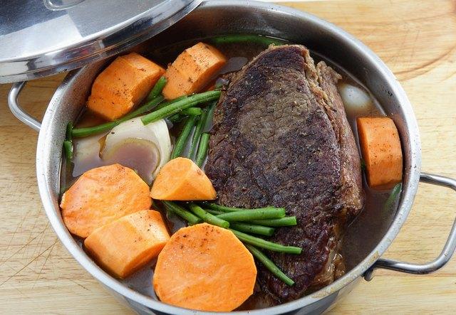 Pot roast with sweet potato