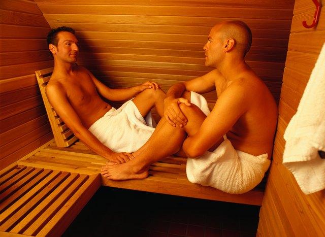 Couple in a Sauna